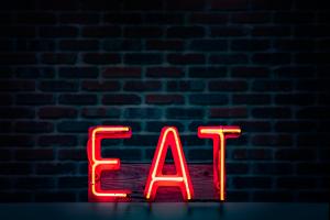 """sign saying """"eat"""""""