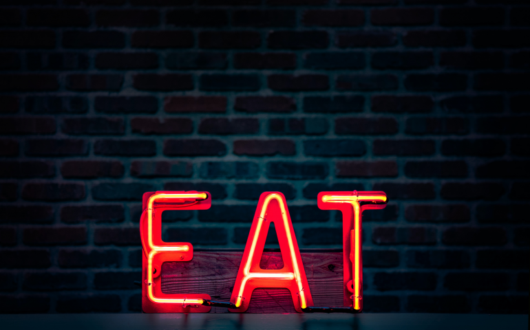 "sign saying ""eat"""