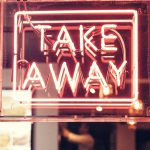 sign that says take away