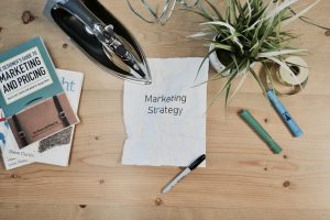 "paper saying ""marketing strategy"""